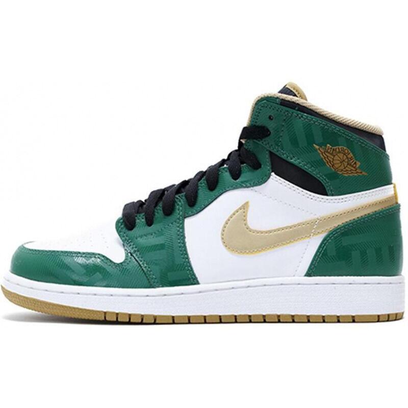 Air Jordan 1 Retro High OG'Celtics' GS Clover/Metallic Gold-White-Blk 籃球鞋/運動鞋 (575441-315) 海外預訂