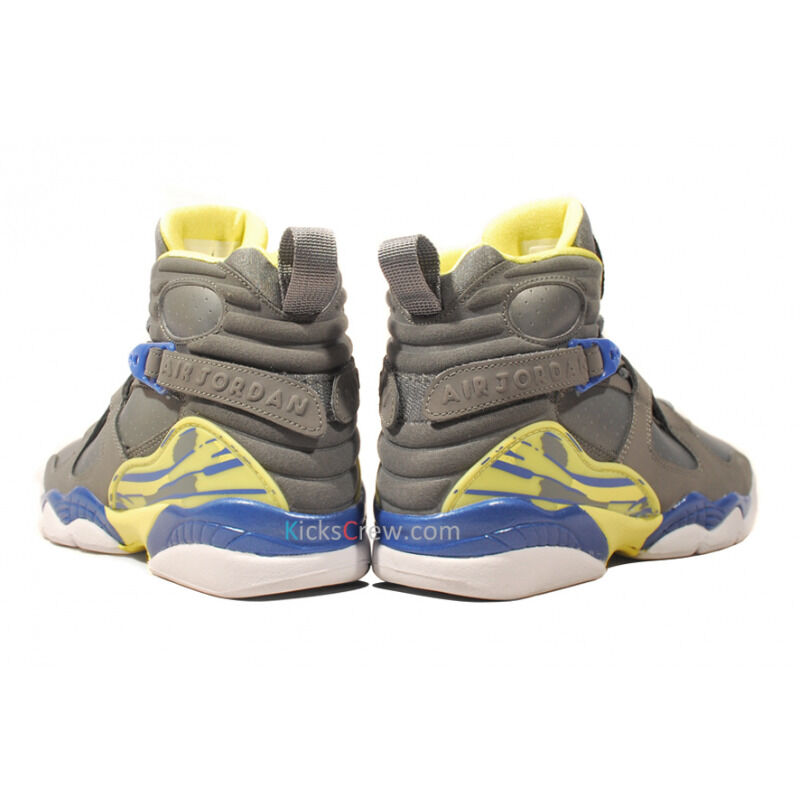Air Jordan 8 Retro GS Cool Grey Electric Yellow 籃球鞋/運動鞋 (580528-038) 海外預訂
