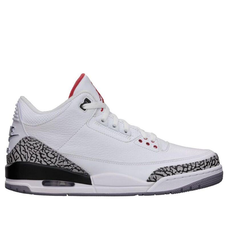 Air Jordan 3 Retro '88' 2013 White/Fire Red-Cement Grey-Black 籃球鞋/運動鞋 (580775-160) 海外預訂