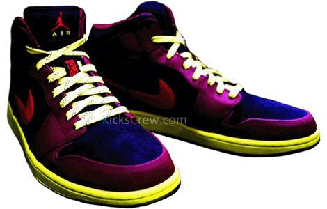 Air Jordan 1 Mid YOTS 'Year Of The Snake' Blcknd Bl/Hypr Rd-Rspbrry Rd-V 籃球鞋/運動鞋 (621288-466) 海外預訂
