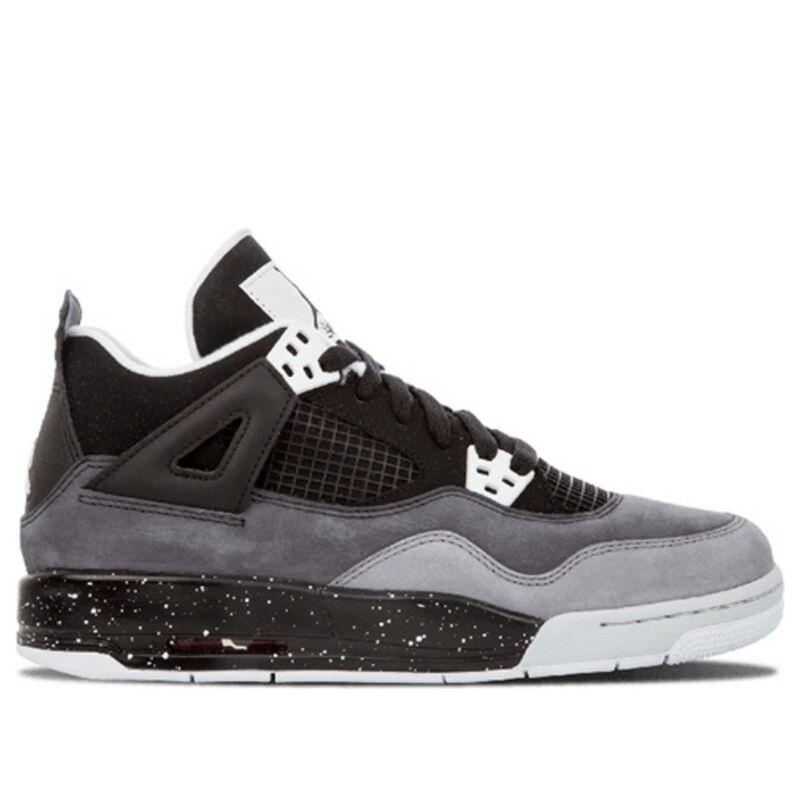 Air Jordan 4 Retro'Fear' GS Black/White-Cool Grey-Pure Platinum 籃球鞋/運動鞋 (626970-030) 海外預訂