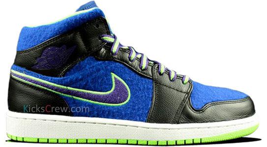 Air Jordan 1 Mid Black Game Royal Lime 籃球鞋/運動鞋 (633206-040) 海外預訂