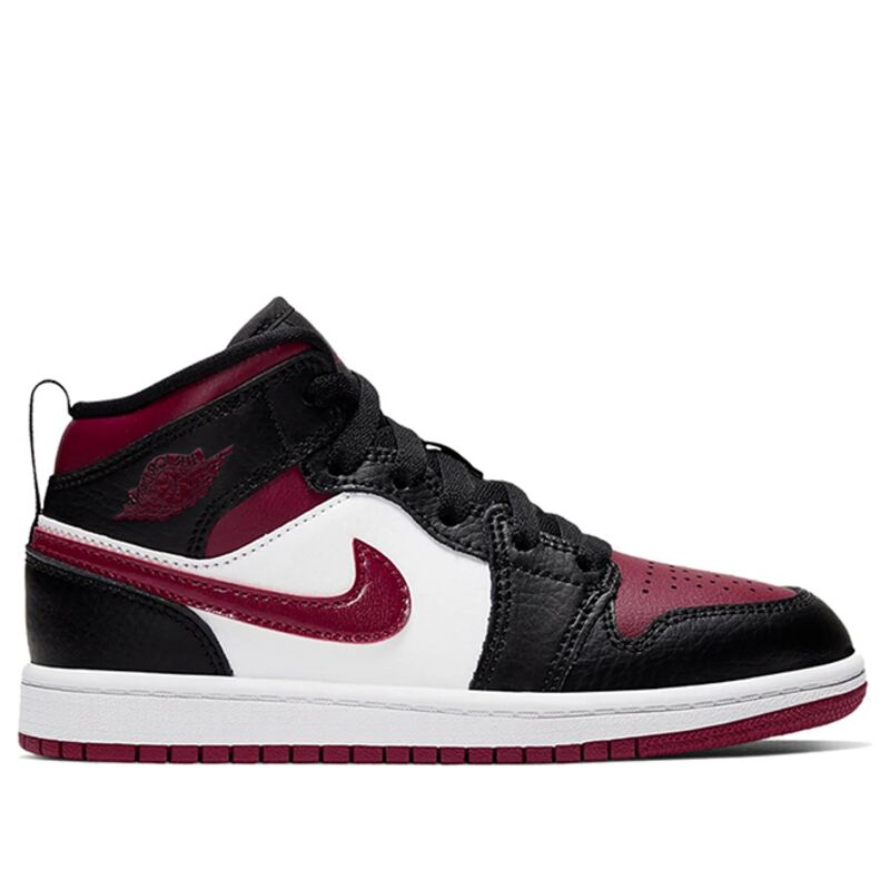 Jordan 1 Mid PS 'Bred Toe' Black/Noble Red/White 籃球鞋/運動鞋 (640734-066) 海外預訂