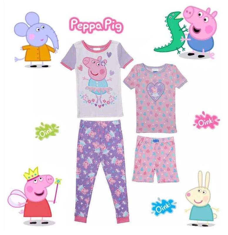 Peppa Pig 兒童睡衣褲套裝 [1套4件]