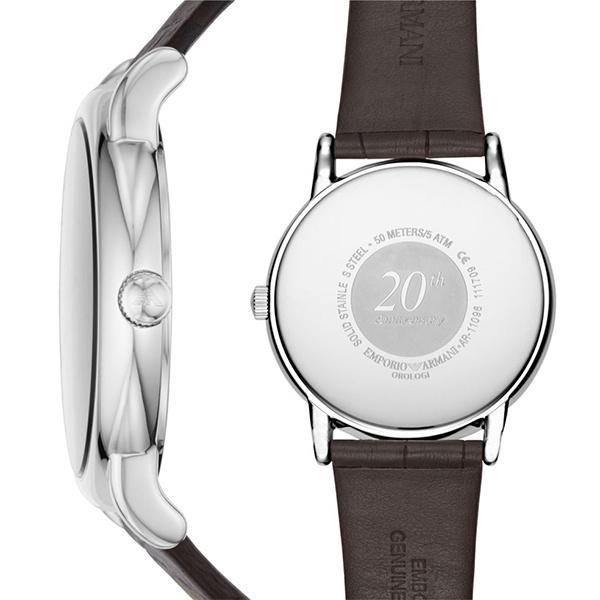 Emporio Armani AR11096 20周年紀念 男士皮帶手錶