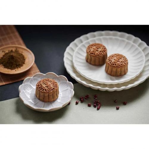九龍香格里拉大酒店 - 香宮迷你焙茶紅豆柚子白玉月餅禮劵(8個裝)