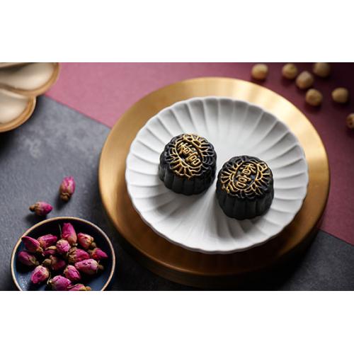 九龍香格里拉大酒店 - 香宮迷你黑金玫瑰糖白蓮蓉蛋黃月餅禮劵 (8個裝)