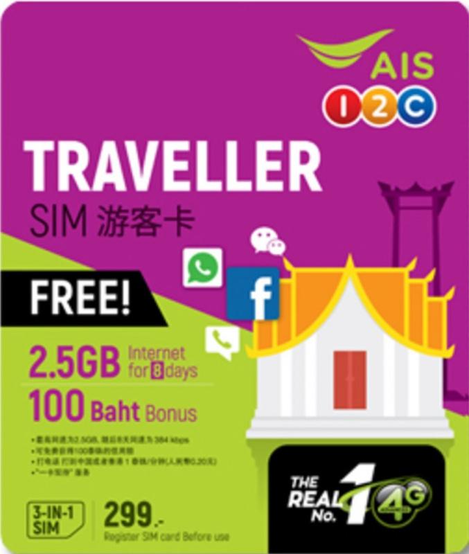 AIS 4G無限數據卡 [全球/亞洲/泰國]