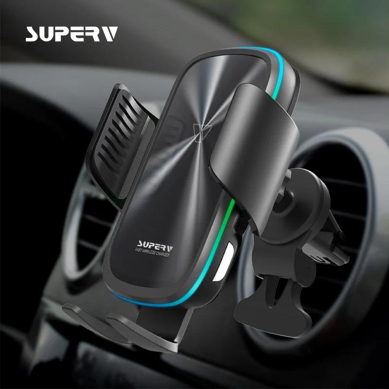 SuperV G91 無線車載充電器+支架組