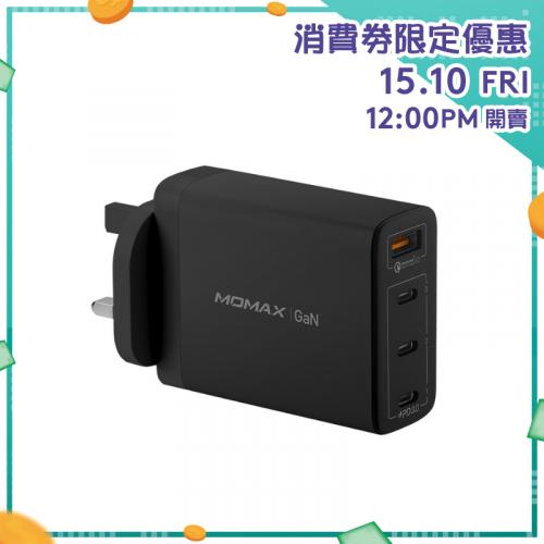 Momax One Plug GaN 100W 四輸出快速充電器 UM22 [2色]【消費券激賞】
