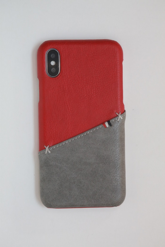Workshop68 手工iPhone殻 - Ruby / Ash Split Wallet - iPhone X