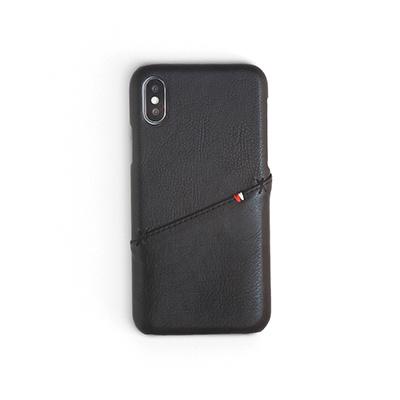 Workshop68 手工iPhone殻 - Shadow Balck Stitch Wallet - iPhone X