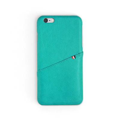 Workshop68 手工iPhone殻 - Turquoise Stitch Wallet - iPhone X