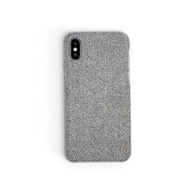 Workshop68 手工iPhone殻 - Static Grey Fabric - iPhone 7+/8+