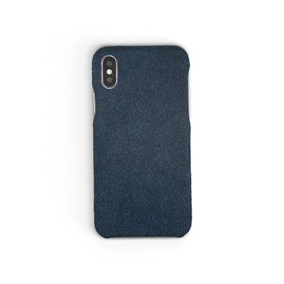 Workshop68 手工iPhone殻 - Aegean Blue Fabric - iPhone 7+/8+