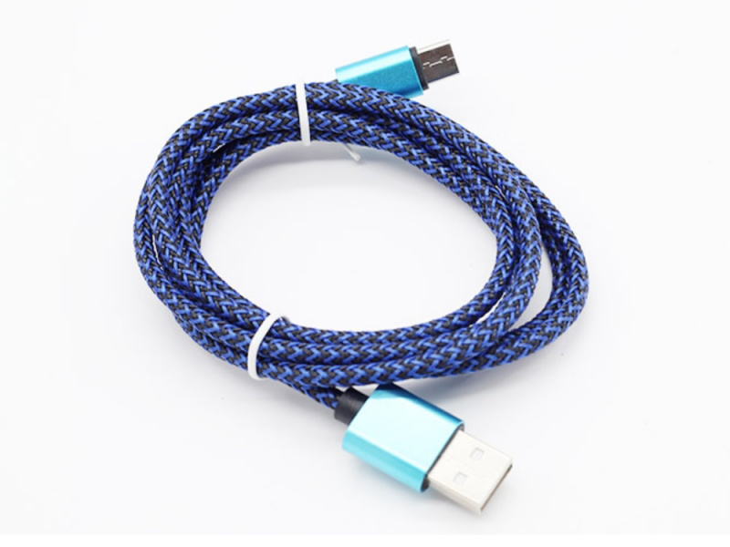 鋁合金尼龍高速數據Micro USB充電線 [3色]