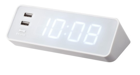 Bruno LED時鐘連USB插口 [3色]