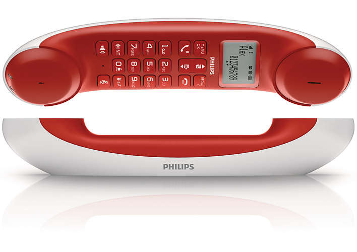 Philips M5501WR Design 無線家居電話 [紅色]