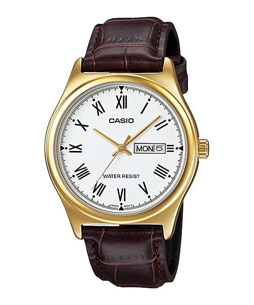 Casio MTP-V006GL-7B 男裝皮帶手錶