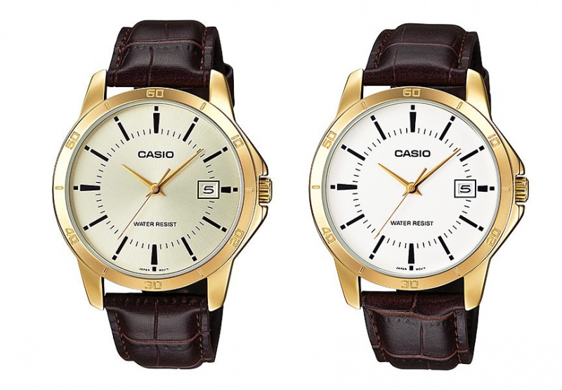 Casio MTP-V004GL 男裝皮帶手錶 [2色]