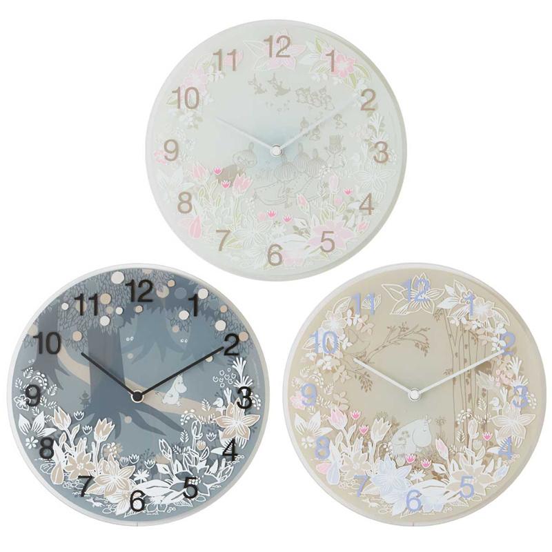 Moomin timepieces 姆明一族玻璃掛牆鐘 [3款式]