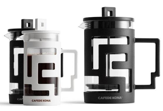 CAFEDE KONA 迷宮法式濾壓壺 [350mL/800mL] [2色]