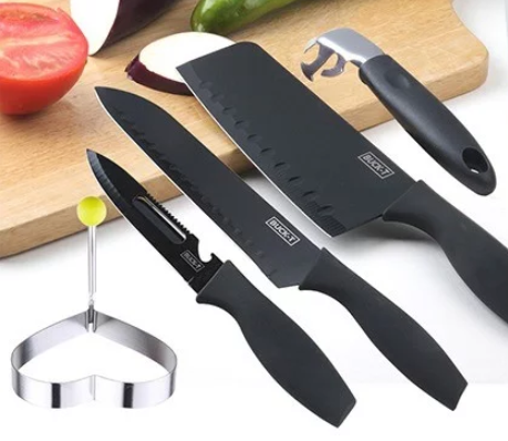 Black Steel 不銹黑鋼廚刀套裝 [4把裝] [可加購刀座/磨刀器]