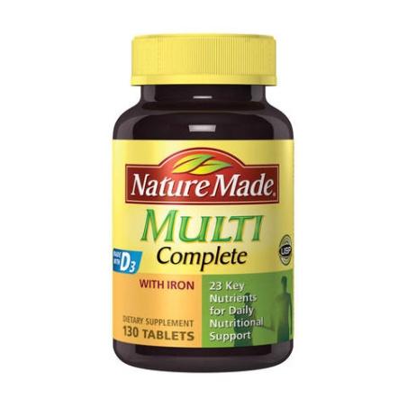 Nature Made Multi Complete 綜合完整維生素錠劑 130粒