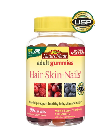 Nature Made 頭髮皮膚指甲成人軟糖 90粒