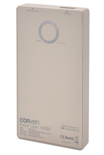 Conven Power Gear 10,000mAh 移動電源 (QC3.0+PD) [4色]