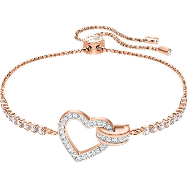 Swarovski Lovely 鍍玫瑰金色手鏈 (5368541)