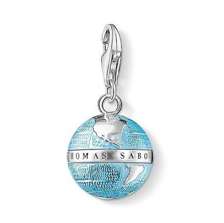 Thomas Sabo Charm Globe 藍色地球小銀墜 (0754-007-1)