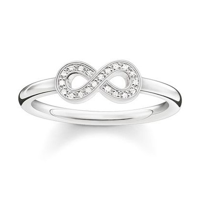 Thomas Sabo Sterling Silver Glam & Soul Infinity 戒指 (D_TR0001-725-14)