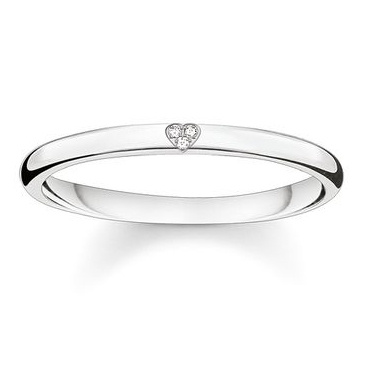 Thomas Sabo Sterling Silver Glam & Soul Heart 戒指 (D_TR0016-725-14)