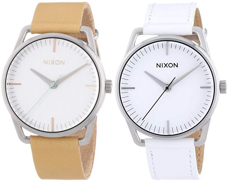 Nixon A129 The Mellor Ladies Watch 女士皮帶石英錶 [杏/白]