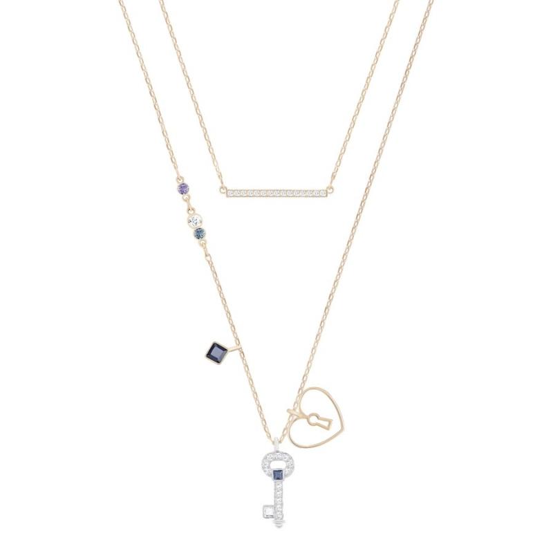 Swarovski Glowing Key 心形鎖匙和鎖二合一鏈墜套裝 5273295