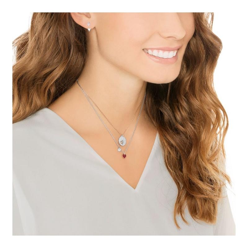 Swarovski CRYSTAL WISHES 心形項鍊耳環套裝 (5291089)