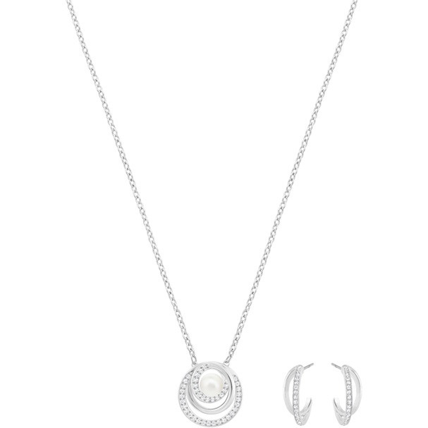 Swarovski Free Pearl 頸鏈耳環套裝 (5225437)