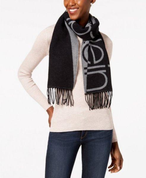 Calvin Klein 雙色LOGO圍巾 [2款]