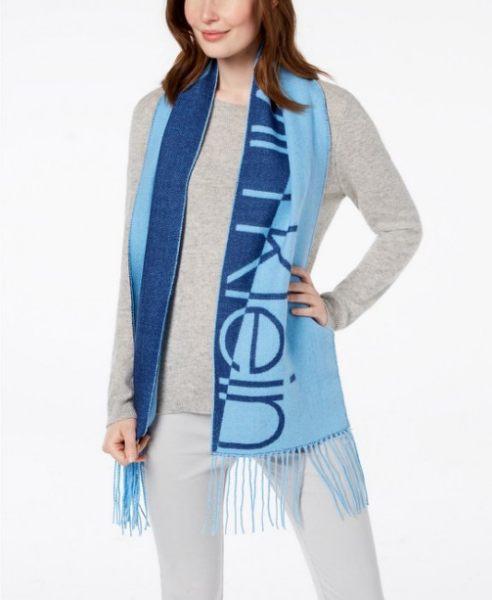 Calvin Klein 雙色LOGO圍巾 [3款]