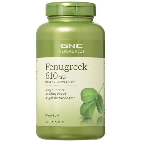 GNC Herbal Plus Fenugreek 葫蘆巴種子催乳豐胸精華 610mg [200粒]