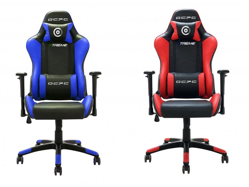OCPC XTREME 電競椅套裝 [藍黑色+紅黑色]