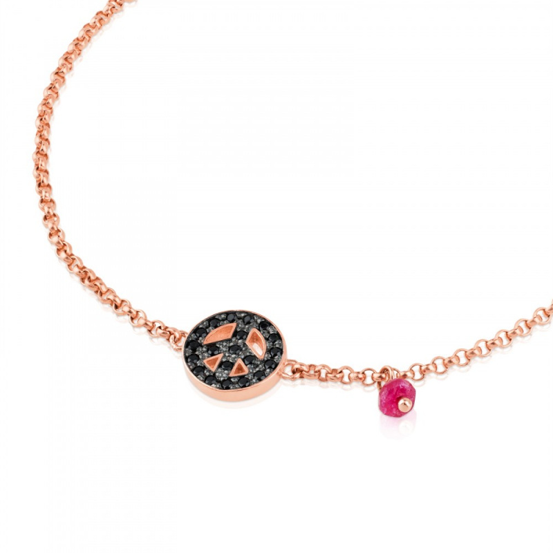 TOUS Pink Silver Motif with Spinel and Ruby 手鏈 (314931540)