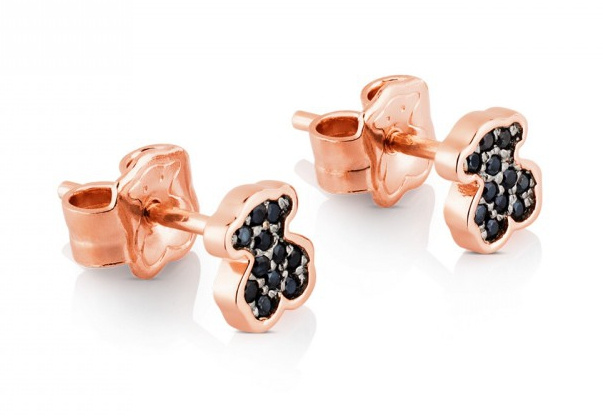 TOUS Rose Vermeil Silver Motif Earrings with Spinel 耳環 (414933500)