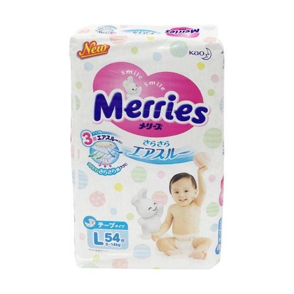 Merries 花王 嬰兒尿片大碼 L 54片 [日本內銷版]
