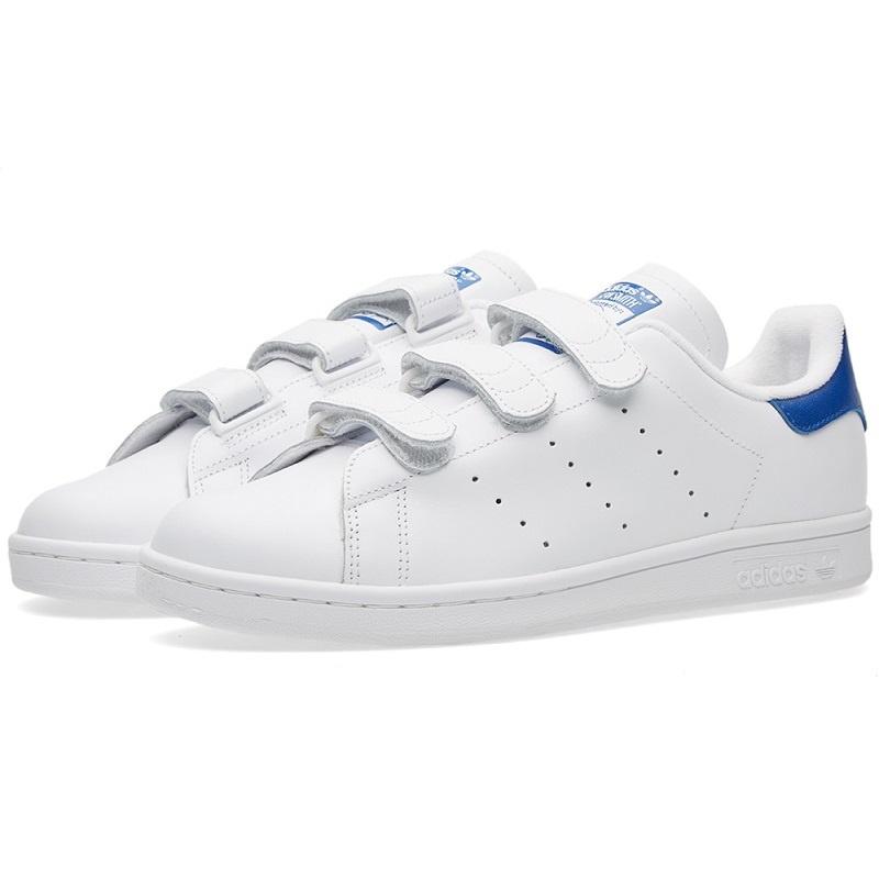Adidas Originals Stan Smith 魔術貼女裝鞋 [藍色標纖]