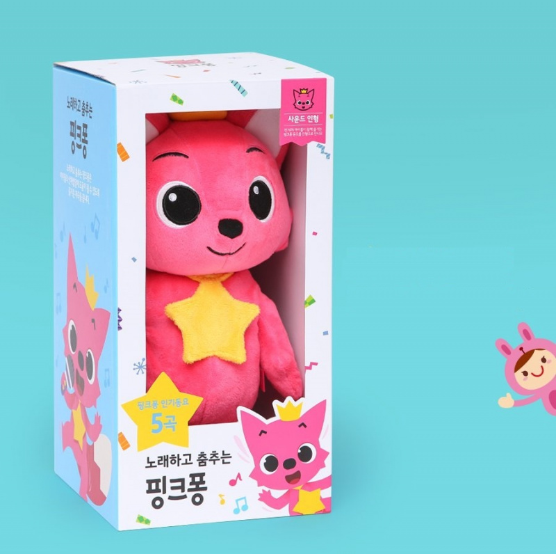 Pinkfong dancing doll 跳舞公仔 + Pinkfong Cushion套裝 [2款]