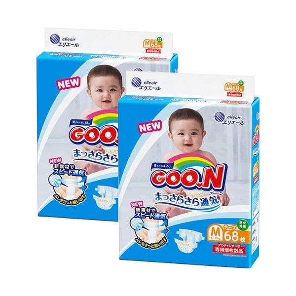 日本內銷版 Goo.N大王尿片 (增量裝) [2包裝] [3尺寸]