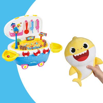 Pinkfong 音樂釣魚玩具 +Baby Shark Singing Plush 音樂公仔[套裝]