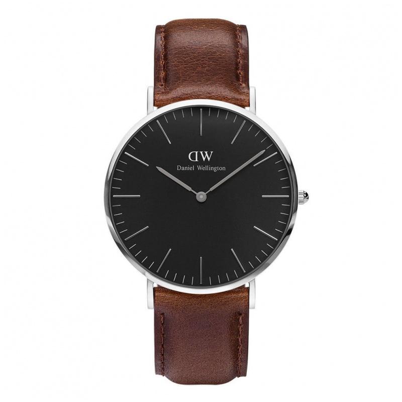 Daniel Wellington Classic Black Bristol 經典皮帶錶 (40 36mm)
